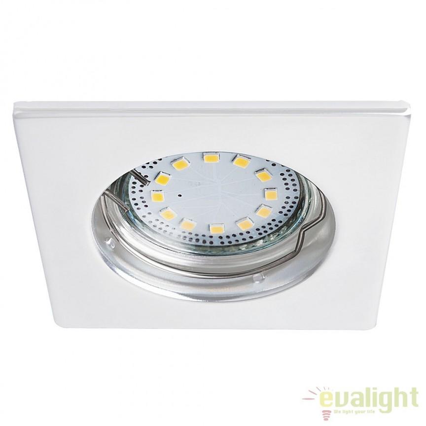 Set de 3 spoturi GU10 LED incastrabile cu protectie IP44, alb Lite 1052 RX, Spoturi LED incastrate, aplicate, Corpuri de iluminat, lustre, aplice, veioze, lampadare, plafoniere. Mobilier si decoratiuni, oglinzi, scaune, fotolii. Oferte speciale iluminat interior si exterior. Livram in toata tara.  a