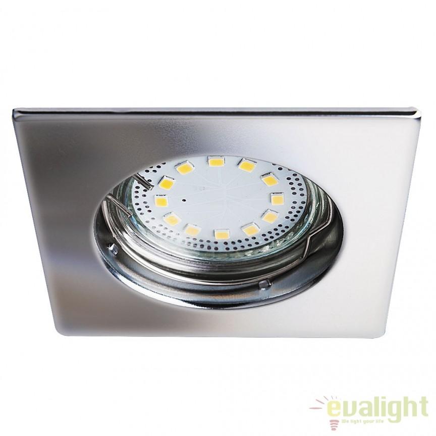 Set de 3 spoturi GU10 LED incastrabile cu protectie IP44, crom Lite 1053 RX, Spoturi LED incastrate, aplicate, Corpuri de iluminat, lustre, aplice a