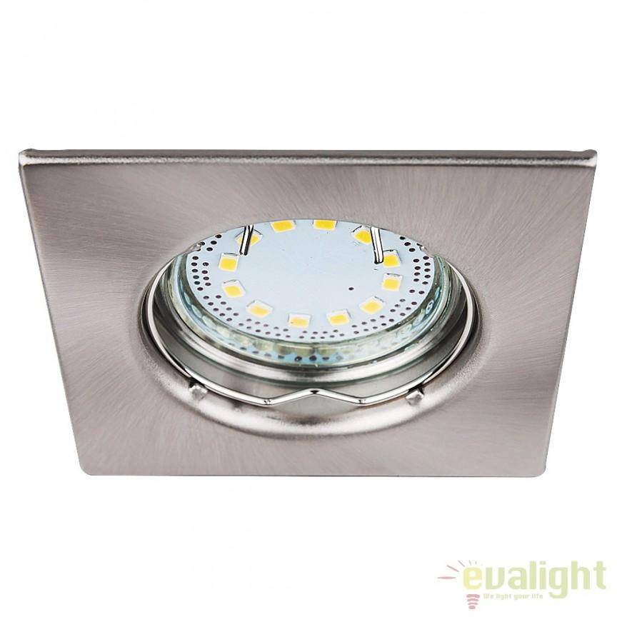 Set de 3 spoturi GU10 LED incastrabile cu protectie IP44, crom satinat Lite 1054 RX, Spoturi LED incastrate, aplicate, Corpuri de iluminat, lustre, aplice a