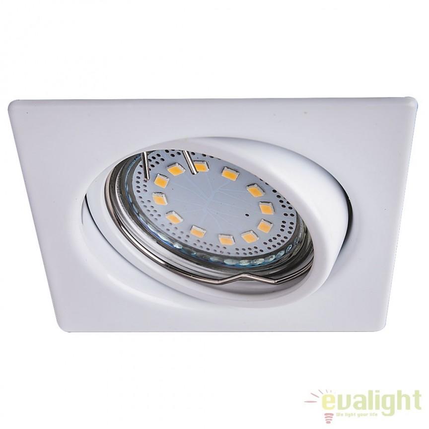 Set de 3 spoturi GU10 LED incastrabile, directionabile cu protectie IP40, alb Lite 1055 RX, Spoturi LED incastrate, aplicate, Corpuri de iluminat, lustre, aplice, veioze, lampadare, plafoniere. Mobilier si decoratiuni, oglinzi, scaune, fotolii. Oferte speciale iluminat interior si exterior. Livram in toata tara.  a