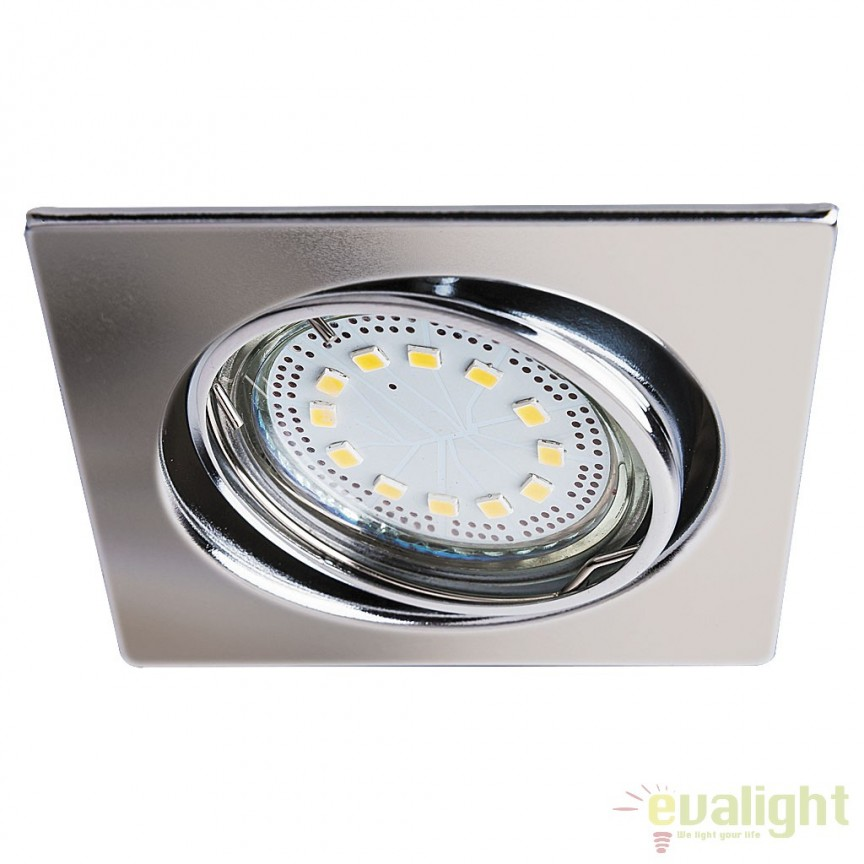 Set de 3 spoturi GU10 LED incastrabile, directionabile cu protectie IP40, crom Lite 1056 RX, Spoturi LED incastrate, aplicate, Corpuri de iluminat, lustre, aplice a