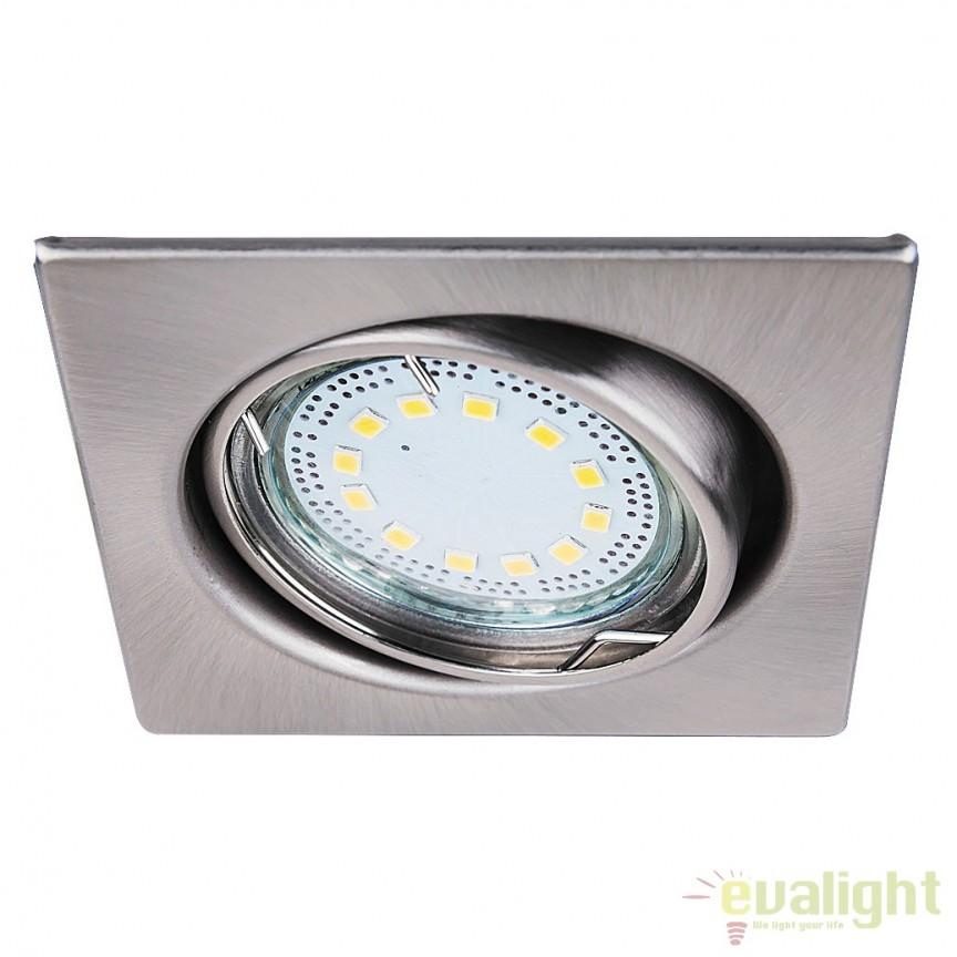 Set de 3 spoturi GU10 LED incastrabile, directionabile cu protectie IP40, crom satinat Lite 1057 RX, Spoturi LED incastrate, aplicate, Corpuri de iluminat, lustre, aplice a