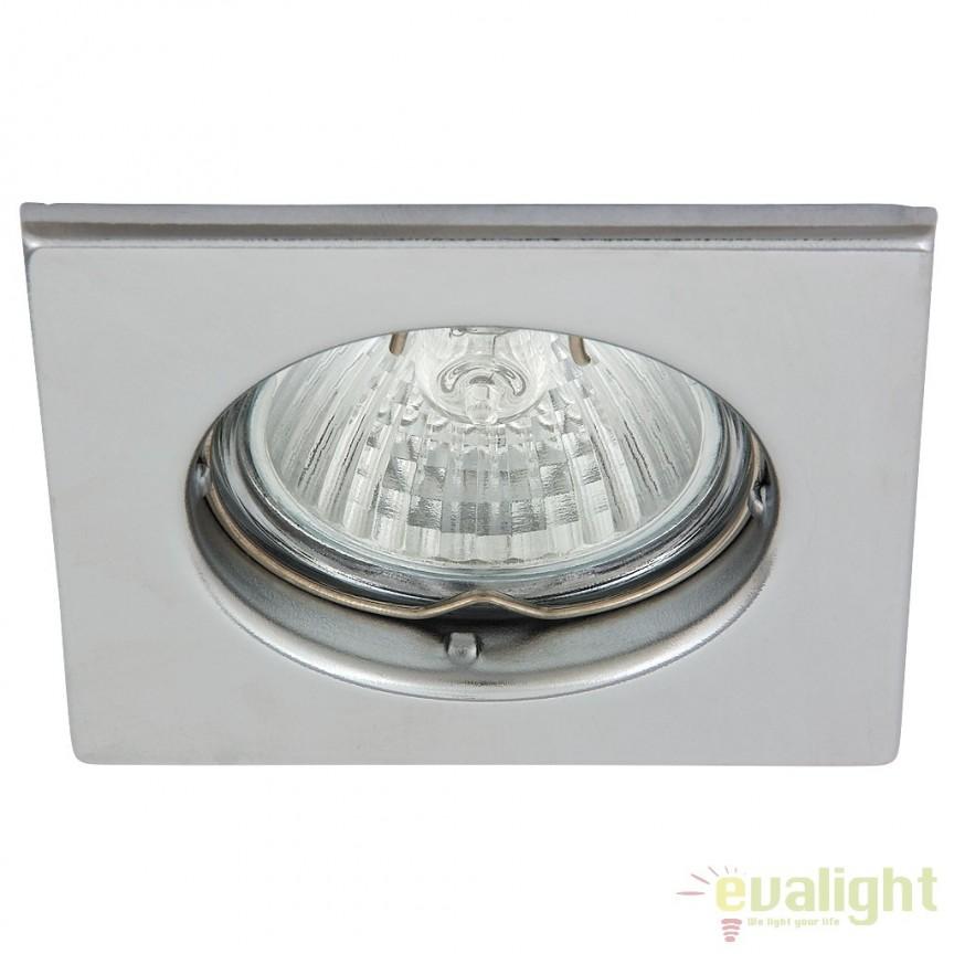 Set de 3 spoturi GU10 LED incastrabile cu protectie IP44, crom Spot light 1113 RX, Spoturi LED incastrate, aplicate, Corpuri de iluminat, lustre, aplice a