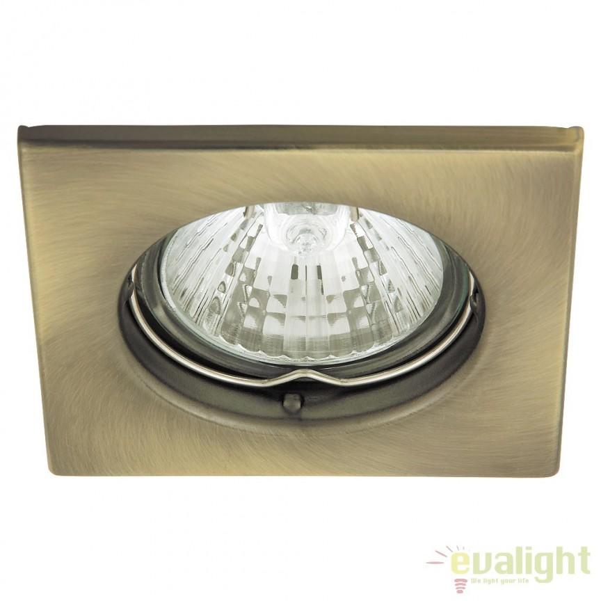 Set de 3 spoturi GU10 LED incastrabile cu protectie IP44, crom satinat Spot light 1115 RX, Spoturi LED incastrate, aplicate, Corpuri de iluminat, lustre, aplice a