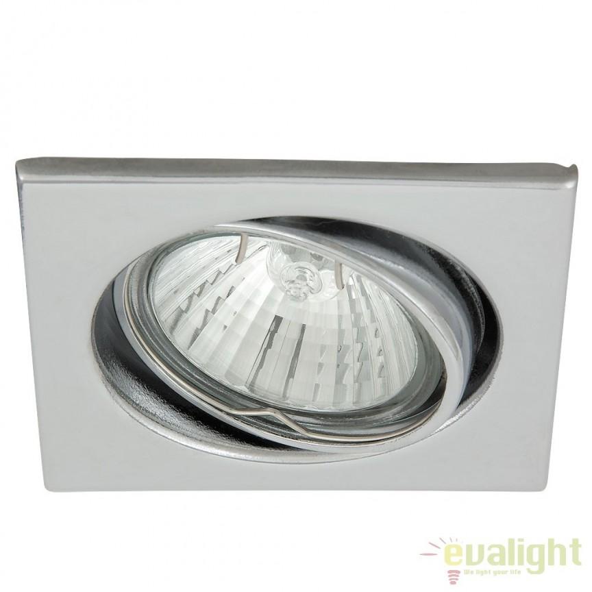 Set de 3 spoturi GU10 LED incastrabile, directionabile cu protectie IP40, crom Spot light 1133 RX, Spoturi LED incastrate, aplicate, Corpuri de iluminat, lustre, aplice a