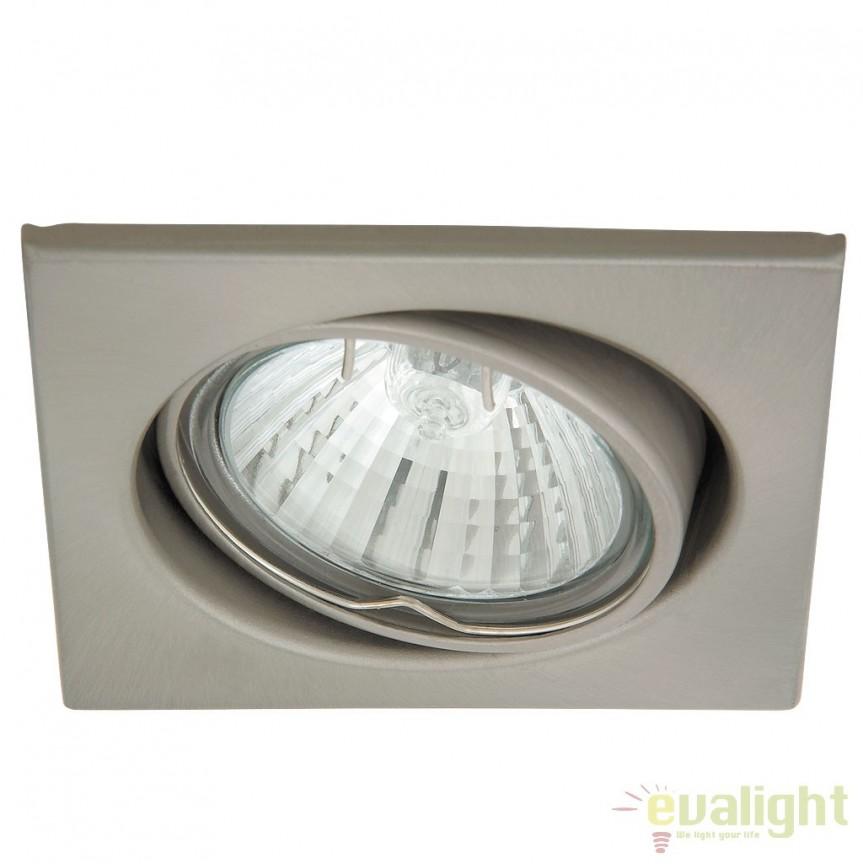 Set de 3 spoturi GU10 LED incastrabile, directionabile cu protectie IP40, crom satinat Spot light 1134 RX, Spoturi LED incastrate, aplicate, Corpuri de iluminat, lustre, aplice a