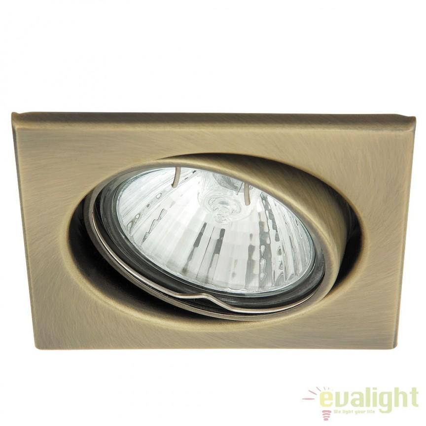 Set de 3 spoturi GU10 LED incastrabile, directionabile cu protectie IP40, crom satinat Spot light 1135 RX, Spoturi LED incastrate, aplicate, Corpuri de iluminat, lustre, aplice a