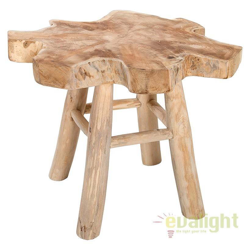 Masuta living / decorativa din lemn de tec Root 50cm A-36579 VC,  a