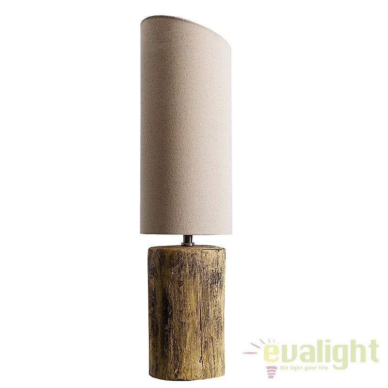 Veioza din beton imitand trunchiul de copac Yuka II 60cm A-36993 VC, Outlet,  a