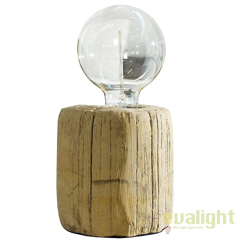 Veioza moderna din beton finisaj vopsit, Fossil Wood A-36975 VC, PROMOTII, Corpuri de iluminat, lustre, aplice, veioze, lampadare, plafoniere. Mobilier si decoratiuni, oglinzi, scaune, fotolii. Oferte speciale iluminat interior si exterior. Livram in toata tara.  a