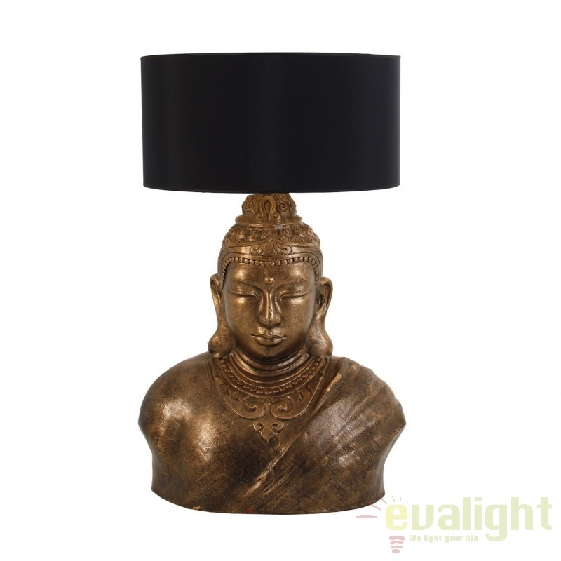 Veioza / Lampa de masa stil rustic Buda 23005 VH, Veioze, Corpuri de iluminat, lustre, aplice, veioze, lampadare, plafoniere. Mobilier si decoratiuni, oglinzi, scaune, fotolii. Oferte speciale iluminat interior si exterior. Livram in toata tara.  a