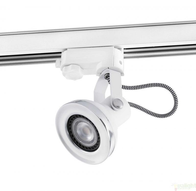 Spot LED directionabil pe sina, alb, RING 40562 Faro Barcelona , Spoturi LED incastrate, aplicate, Corpuri de iluminat, lustre, aplice a