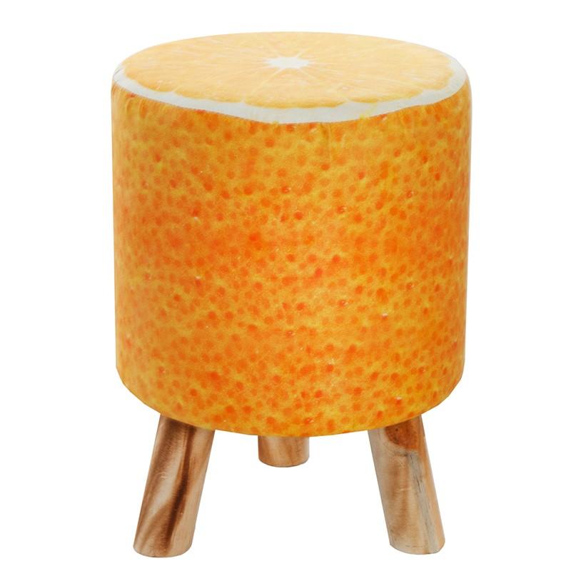 Taburet design portocala Fruits 45cm A-36952 VC, Outlet, Corpuri de iluminat, lustre, aplice, veioze, lampadare, plafoniere. Mobilier si decoratiuni, oglinzi, scaune, fotolii. Oferte speciale iluminat interior si exterior. Livram in toata tara.  a
