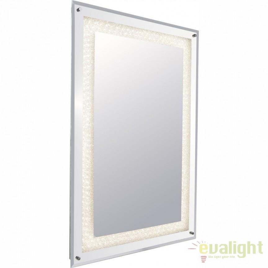 Oglinda cu iluminat LED, 60x90cm Sanchez 84023 GL, Oglinzi pentru baie, Corpuri de iluminat, lustre, aplice, veioze, lampadare, plafoniere. Mobilier si decoratiuni, oglinzi, scaune, fotolii. Oferte speciale iluminat interior si exterior. Livram in toata tara.  a