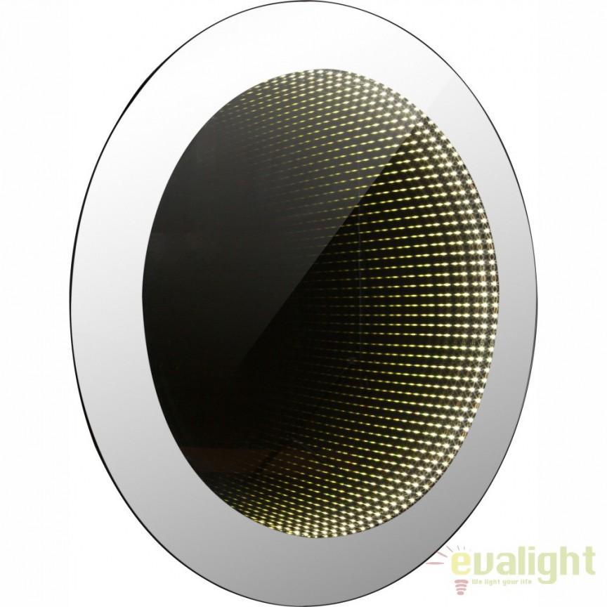 Oglinda cu iluminat LED efect tunel infinit si protectie IP44, 45cm Mara 84018-2 GL, Oglinzi pentru baie, Corpuri de iluminat, lustre, aplice a