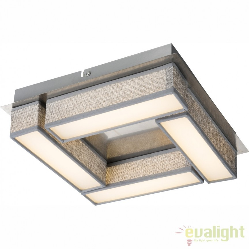 Lustra aplicata design modern LED, PACO 15185-12D GL, PROMOTII, Corpuri de iluminat, lustre, aplice, veioze, lampadare, plafoniere. Mobilier si decoratiuni, oglinzi, scaune, fotolii. Oferte speciale iluminat interior si exterior. Livram in toata tara.  a