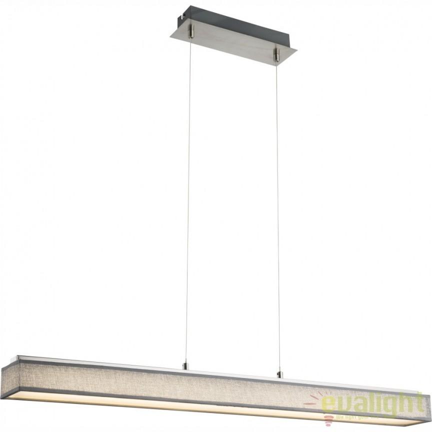 Lustra suspendata design modern, LED PACO 15185-18H GL, Promotii si Reduceri⭐ Oferte ✅Corpuri de iluminat ✅Lustre ✅Mobila ✅Decoratiuni de interior si exterior.⭕Pret redus online➜Lichidari de stoc❗ Magazin ➽ www.evalight.ro. a