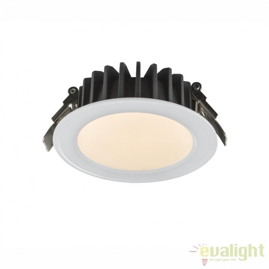 Spot incastrat cu iluminat LED 9W DOWN LIGHTS 12360D GL, Spoturi incastrate, aplicate - tavan / perete, Corpuri de iluminat, lustre, aplice, veioze, lampadare, plafoniere. Mobilier si decoratiuni, oglinzi, scaune, fotolii. Oferte speciale iluminat interior si exterior. Livram in toata tara.  a