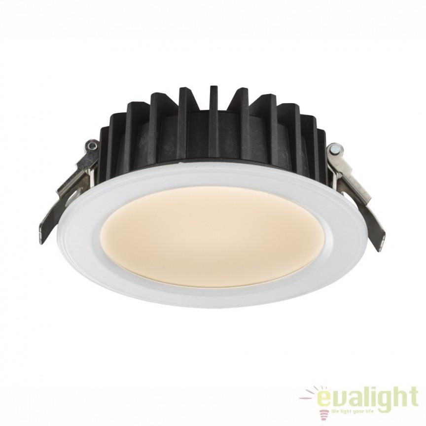 Spot incastrat cu iluminat LED 15W DOWN LIGHTS 12361D GL, Spoturi incastrate, aplicate - tavan / perete, Corpuri de iluminat, lustre, aplice, veioze, lampadare, plafoniere. Mobilier si decoratiuni, oglinzi, scaune, fotolii. Oferte speciale iluminat interior si exterior. Livram in toata tara.  a