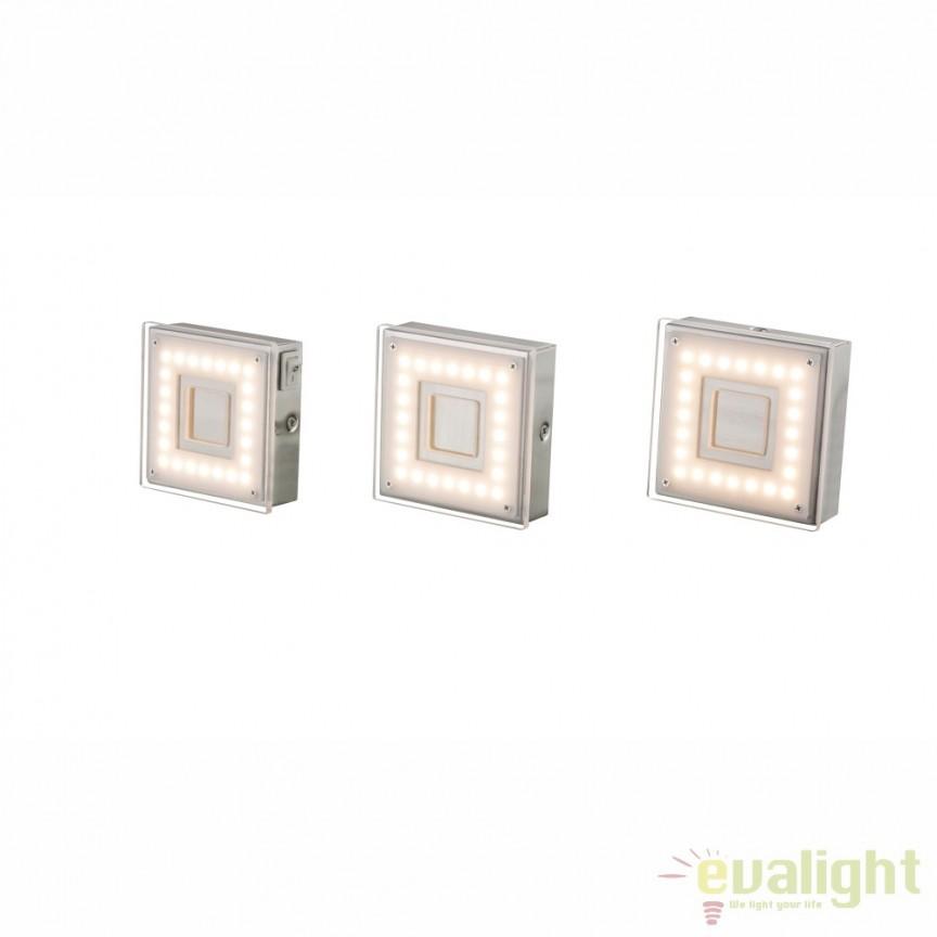 Set de 3 spoturi aplicate cu intrerupator, pentru rafturi sau scafe LED DOWN LIGHTS 1208-3 GL, Spoturi LED incastrate, aplicate, Corpuri de iluminat, lustre, aplice, veioze, lampadare, plafoniere. Mobilier si decoratiuni, oglinzi, scaune, fotolii. Oferte speciale iluminat interior si exterior. Livram in toata tara.  a