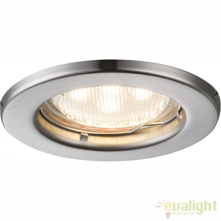 Set de 3 spoturi incastrate diametru 8cm finisaj nickel mat DOWN LIGHTS 12100-3LED GL, Spoturi LED incastrate, aplicate, Corpuri de iluminat, lustre, aplice, veioze, lampadare, plafoniere. Mobilier si decoratiuni, oglinzi, scaune, fotolii. Oferte speciale iluminat interior si exterior. Livram in toata tara.  a
