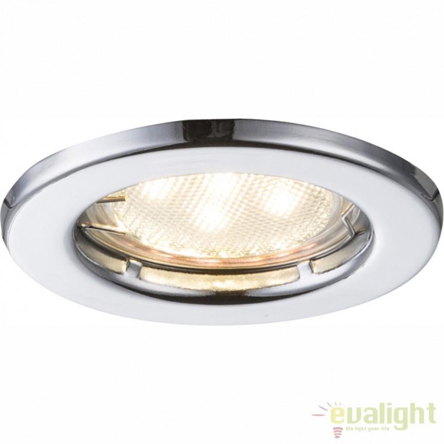 Set de 3 spoturi incastrate diametru 8cm finisaj cromat DOWN LIGHTS 12101-3LED GL, Spoturi LED incastrate, aplicate, Corpuri de iluminat, lustre, aplice, veioze, lampadare, plafoniere. Mobilier si decoratiuni, oglinzi, scaune, fotolii. Oferte speciale iluminat interior si exterior. Livram in toata tara.  a
