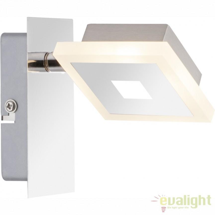 Aplica de perete LED design modern finisaj cromat GEROLF 56111-1 GL, Aplice de perete LED, Corpuri de iluminat, lustre, aplice, veioze, lampadare, plafoniere. Mobilier si decoratiuni, oglinzi, scaune, fotolii. Oferte speciale iluminat interior si exterior. Livram in toata tara.  a