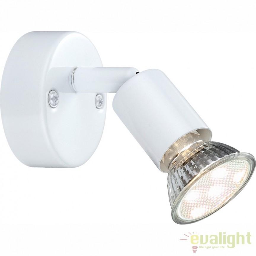Aplica de perete design modern alba GU10 LED Olana & Oliwa 57381-1L GL, Aplice de perete LED, Corpuri de iluminat, lustre, aplice, veioze, lampadare, plafoniere. Mobilier si decoratiuni, oglinzi, scaune, fotolii. Oferte speciale iluminat interior si exterior. Livram in toata tara.  a