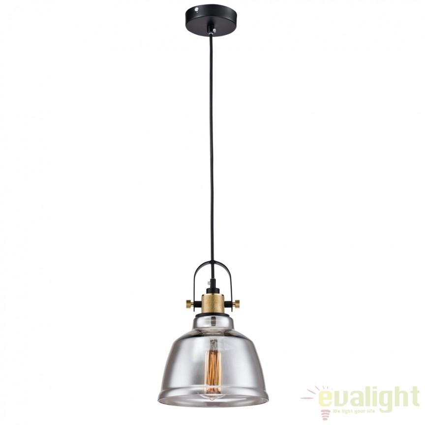 Pendul design Vintage Irving fumuriu MYT163-11-C, NOU ! Lustre VINTAGE, RETRO, INDUSTRIA Style,  a
