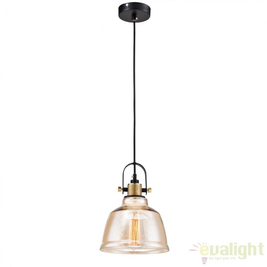 Pendul design Vintage Irving amber MYT163-11-R, NOU ! Lustre VINTAGE, RETRO, INDUSTRIA Style,  a