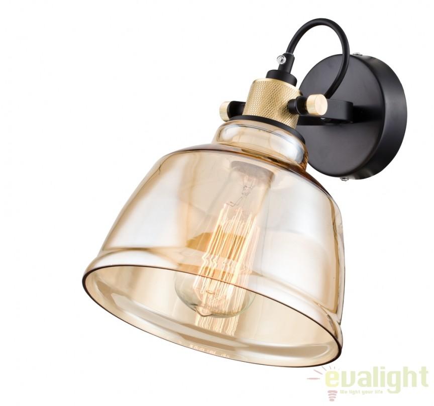 Aplica de perete design Vintage Irving amber MYT163-01-R, NOU ! Lustre VINTAGE, RETRO, INDUSTRIA Style,  a