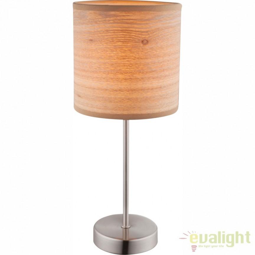 Veioza / Lampa de masa design modern maro diam: 15cm AMY II 15189T GL, Outlet,  a
