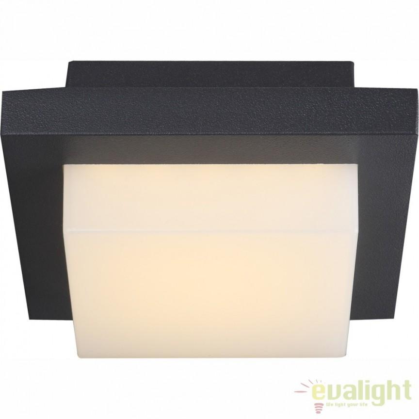 Plafoniera LED design modern cu protectie IP54 OSKARI 34186 GL, Plafoniere de exterior, Corpuri de iluminat, lustre, aplice, veioze, lampadare, plafoniere. Mobilier si decoratiuni, oglinzi, scaune, fotolii. Oferte speciale iluminat interior si exterior. Livram in toata tara.  a
