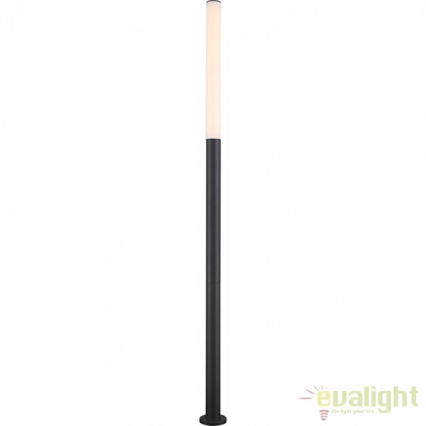 Stalp exterior LED cu protectie IP54 H-180cm OSKARI 34185-3S GL, Stalpi de iluminat exterior mari, Corpuri de iluminat, lustre, aplice, veioze, lampadare, plafoniere. Mobilier si decoratiuni, oglinzi, scaune, fotolii. Oferte speciale iluminat interior si exterior. Livram in toata tara.  a