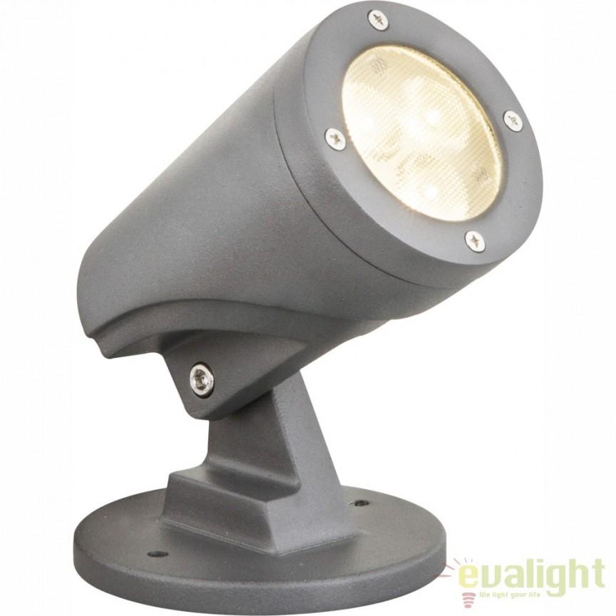 Proiector de iluminat exterior LED directionabil cu protectie IP65 MOLLY 32089 GL, Proiectoare de iluminat exterior , Corpuri de iluminat, lustre, aplice, veioze, lampadare, plafoniere. Mobilier si decoratiuni, oglinzi, scaune, fotolii. Oferte speciale iluminat interior si exterior. Livram in toata tara.  a
