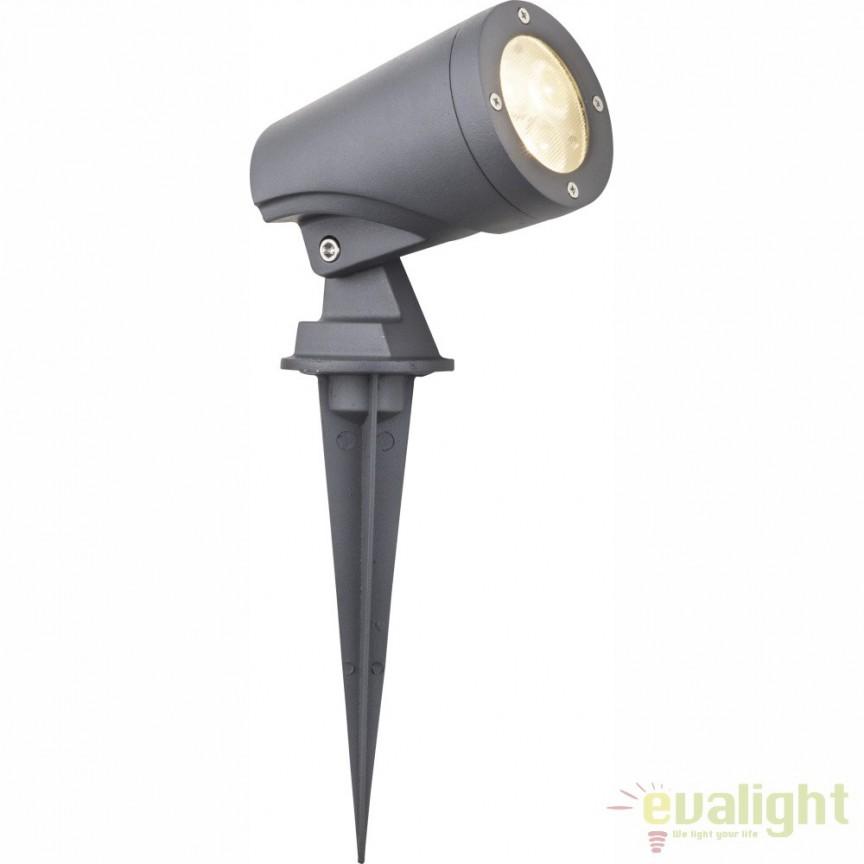Proiector de iluminat exterior, cu tarus, LED directionabil cu protectie IP65 MOLLY 32089S GL, Proiectoare de exterior cu tarus, Corpuri de iluminat, lustre, aplice, veioze, lampadare, plafoniere. Mobilier si decoratiuni, oglinzi, scaune, fotolii. Oferte speciale iluminat interior si exterior. Livram in toata tara.  a