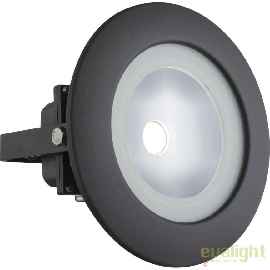 Proiector de iluminat exterior LED pivotant cu protectie IP65 RADIATOR III 34138 GL, Proiectoare de iluminat exterior , Corpuri de iluminat, lustre, aplice, veioze, lampadare, plafoniere. Mobilier si decoratiuni, oglinzi, scaune, fotolii. Oferte speciale iluminat interior si exterior. Livram in toata tara.  a