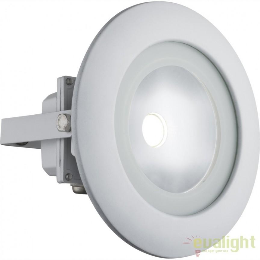 Proiector alb de iluminat exterior LED pivotant cu protectie IP65 RADIATOR III 34139 GL, Proiectoare de iluminat exterior , Corpuri de iluminat, lustre, aplice, veioze, lampadare, plafoniere. Mobilier si decoratiuni, oglinzi, scaune, fotolii. Oferte speciale iluminat interior si exterior. Livram in toata tara.  a