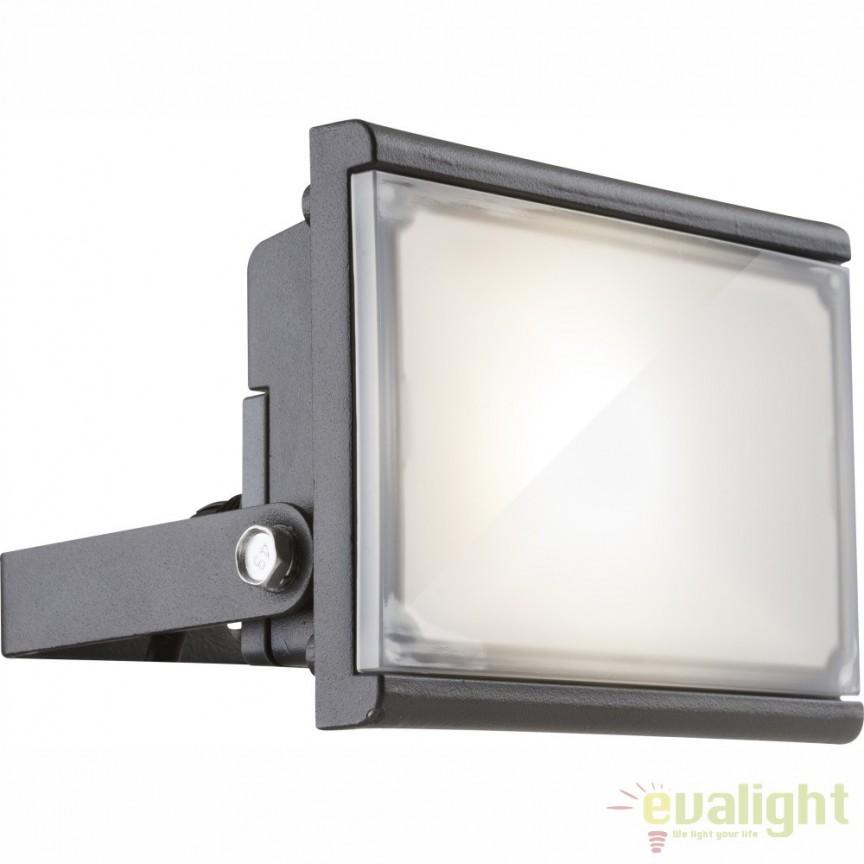 Proiector de iluminat exterior LED pivotant cu protectie IP44 RADIATOR III 34231 GL, Proiectoare de iluminat exterior , Corpuri de iluminat, lustre, aplice, veioze, lampadare, plafoniere. Mobilier si decoratiuni, oglinzi, scaune, fotolii. Oferte speciale iluminat interior si exterior. Livram in toata tara.  a