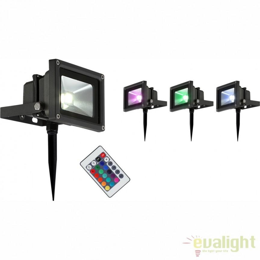 Proiector de exterior cu tarus si iluminat LED-RGB cu telecomanda, protectie IP65, Radiator V 34118S GL, Proiectoare de exterior cu tarus, Corpuri de iluminat, lustre, aplice, veioze, lampadare, plafoniere. Mobilier si decoratiuni, oglinzi, scaune, fotolii. Oferte speciale iluminat interior si exterior. Livram in toata tara.  a