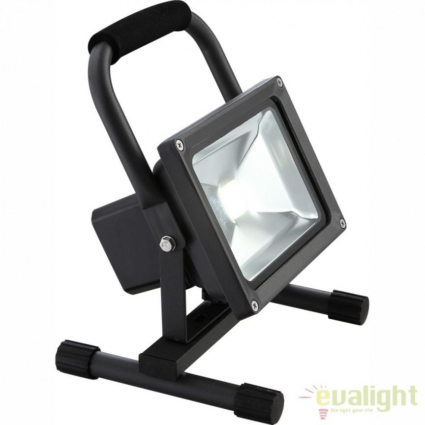 Proiector exterior portabil, dim. 22x18,5cm, IP44, LED Projecteur 34112 GL, Lampi de exterior portabile , Corpuri de iluminat, lustre, aplice, veioze, lampadare, plafoniere. Mobilier si decoratiuni, oglinzi, scaune, fotolii. Oferte speciale iluminat interior si exterior. Livram in toata tara.  a