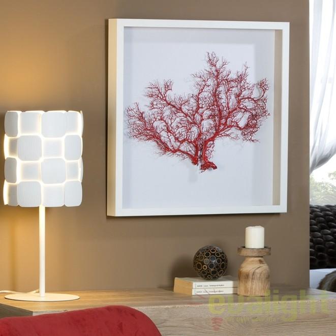 Tablou decorativ / Basorelief decoratiuni interioare Coral rosu SV-849512, Statuete, Figurine decorative, Corpuri de iluminat, lustre, aplice, veioze, lampadare, plafoniere. Mobilier si decoratiuni, oglinzi, scaune, fotolii. Oferte speciale iluminat interior si exterior. Livram in toata tara.  a
