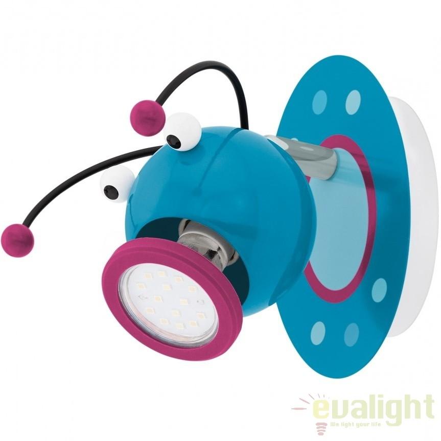 Aplica de perete cu 1 spot GU10 LED camera copii LAIA 1 95941 EL, Promotii si Reduceri⭐ Oferte ✅Corpuri de iluminat ✅Lustre ✅Mobila ✅Decoratiuni de interior si exterior.⭕Pret redus online➜Lichidari de stoc❗ Magazin ➽ www.evalight.ro. a