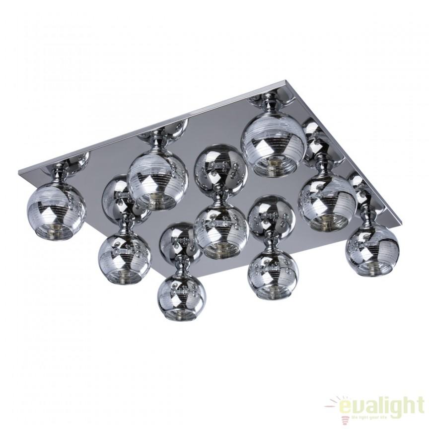 Plafoniera moderna cu 9 spoturi Jeffy 678010309 MW, Spoturi - iluminat - cu 5 si 6 spoturi, Corpuri de iluminat, lustre, aplice, veioze, lampadare, plafoniere. Mobilier si decoratiuni, oglinzi, scaune, fotolii. Oferte speciale iluminat interior si exterior. Livram in toata tara.  a