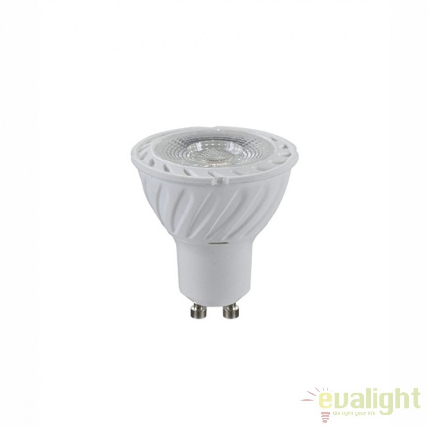 Bec LED GU10 7 Watt 600lm 4000K 10704C GL , Becuri GU10, Corpuri de iluminat, lustre, aplice, veioze, lampadare, plafoniere. Mobilier si decoratiuni, oglinzi, scaune, fotolii. Oferte speciale iluminat interior si exterior. Livram in toata tara.  a