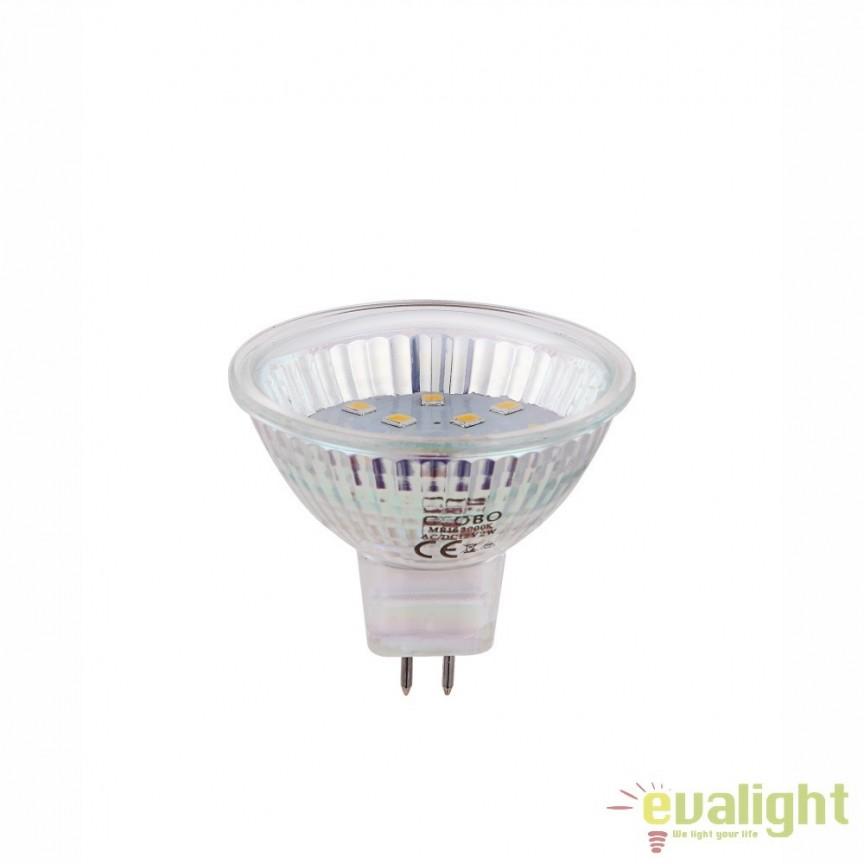 Bec GU5,3 MR16 LED 2W, 160Lm, 3000K 10122 GL, Becuri MR16, GX, AR111, Corpuri de iluminat, lustre, aplice, veioze, lampadare, plafoniere. Mobilier si decoratiuni, oglinzi, scaune, fotolii. Oferte speciale iluminat interior si exterior. Livram in toata tara.  a