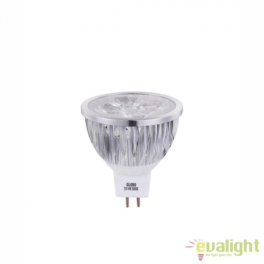 Bec GU5,3 MR16 LED 4W, 280Lm, 3000K 10124 GL, Becuri MR16, GX, AR111, Corpuri de iluminat, lustre, aplice, veioze, lampadare, plafoniere. Mobilier si decoratiuni, oglinzi, scaune, fotolii. Oferte speciale iluminat interior si exterior. Livram in toata tara.  a