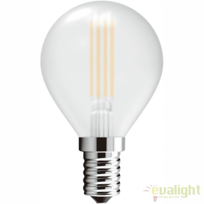 Set 2 Becuri E14 LED satin ILLU 4W, 380lm 4000K 10589-2SC GL , Becuri E14, Corpuri de iluminat, lustre, aplice, veioze, lampadare, plafoniere. Mobilier si decoratiuni, oglinzi, scaune, fotolii. Oferte speciale iluminat interior si exterior. Livram in toata tara.  a