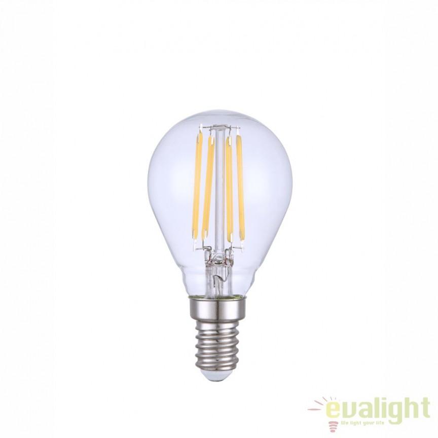 Bec E14 LED clear ILLU 4W, 400lm 4000K 10585C GL, Becuri E14, Corpuri de iluminat, lustre, aplice, veioze, lampadare, plafoniere. Mobilier si decoratiuni, oglinzi, scaune, fotolii. Oferte speciale iluminat interior si exterior. Livram in toata tara.  a