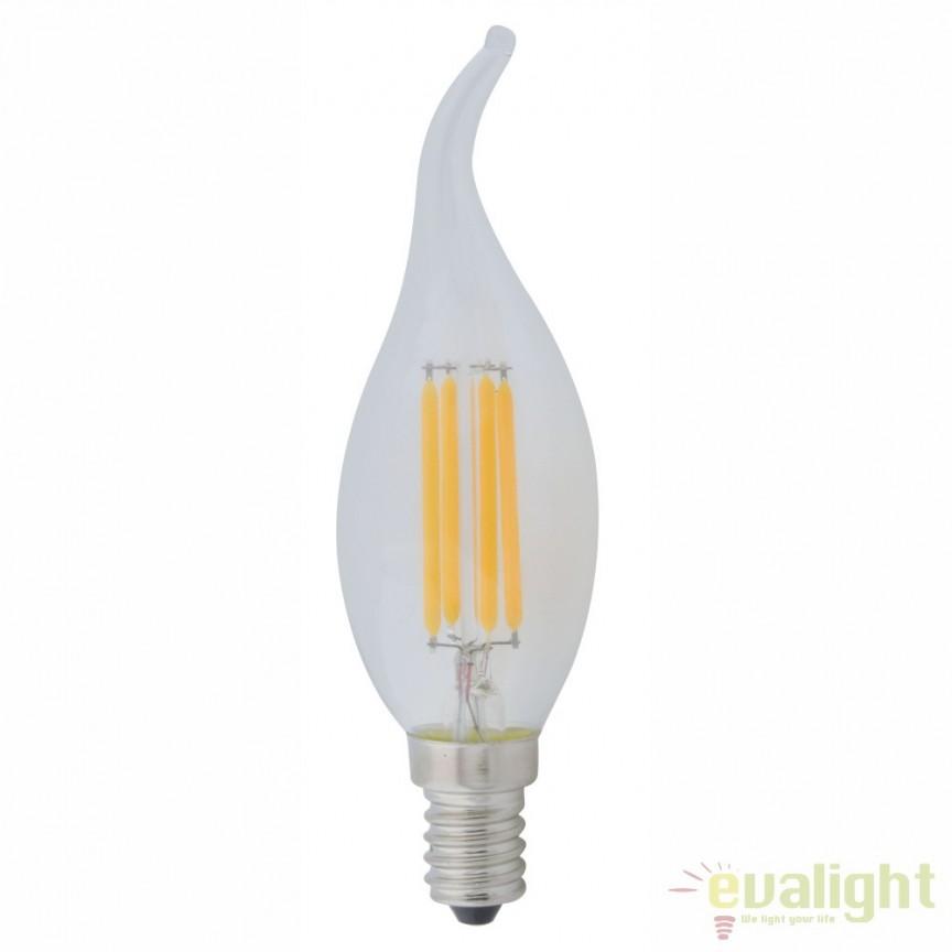 Bec E14 LED clear classic candle 4W, 400lm 4000K 10584C GL, Becuri E14, Corpuri de iluminat, lustre, aplice, veioze, lampadare, plafoniere. Mobilier si decoratiuni, oglinzi, scaune, fotolii. Oferte speciale iluminat interior si exterior. Livram in toata tara.  a